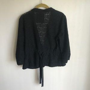 Decree Jackets & Coats - Decree Black Lace Short Jacket One Button Size L